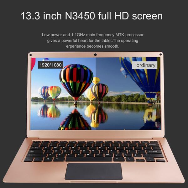 13.3 Inch Ultrathin Laptop Quad Core Intel Celeron N3450 1920 * 1080 FHD IPS Screen 6+64GB SSD Ultrabook Notebook