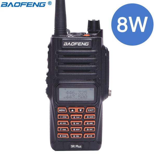 Baofeng UV-9R Plus 8W Power IP67 Waterproof Dustproof Walkie Talkie Two Way Radio Dual Band 10km Long Range UV 9R Portable Radio