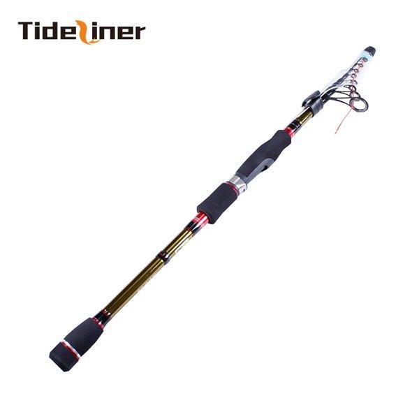 Tideliner telescopic lure fishing rod 1.9m 2.1m 2.4m 2.7m spinning bait casting M high carbon fiber fishing pole adjustable rod
