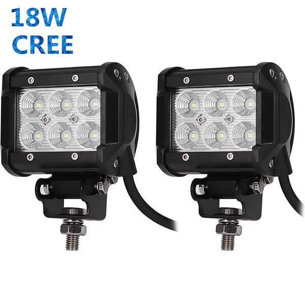 18W Work Light Bar 1800lm 6500K for LED Chips Car Top Flood Beam Driving Lamp for 12v 24v Vehicle SUV ATV etc