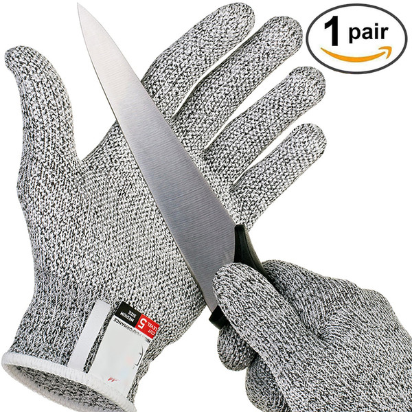 Anti-cut Gloves Safety Cut Proof Stab Resistant Stainless Steel Wire Metal Mesh Kitchen Butcher Cut-Resistant Safety Five Fingers Gloves new