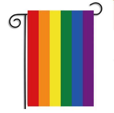 Bannière extérieure Garden Flag Party Home Decorations 30 * 45 CM Rainbow RETOUR À L'ÉCOLE Polyester Banner Indoor Festival Décoration Hanging Flag
