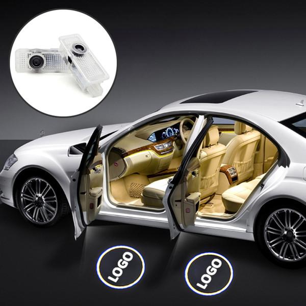 2x LED Car Door Courtesy Laser Logo Projector Light For Mercedes Benz W203 C Class SLK CLK SLR