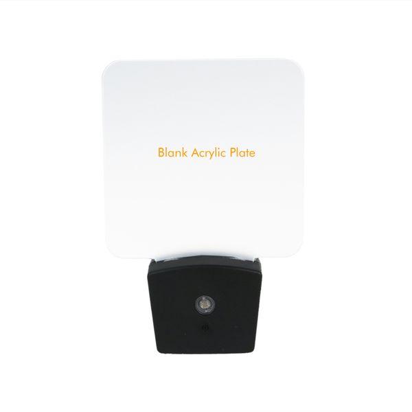 Mini RGB LED Optical Night Lamp Built-in Light Sensor US Wall Plug7 RGB Lights Blank Acrylic Plate Wholesale