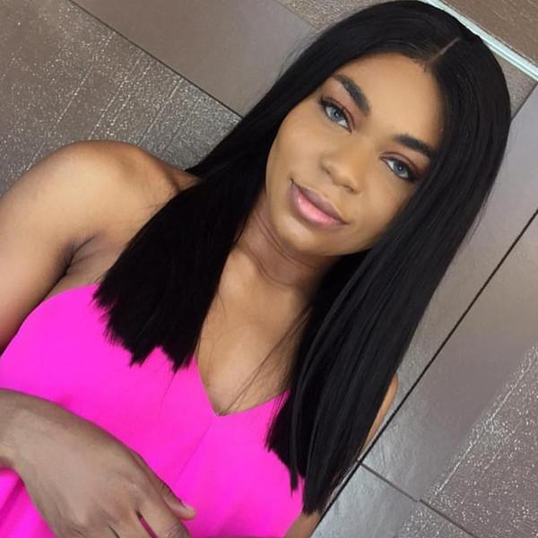 hot 7A Brazilian human virgin hair bob cut wigs short lace front wigs glueless full lace wig with bangs for black women
