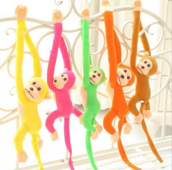 Cute Baby Kids Soft Animal Plush Toys Hanging Long Arm Monkey Stuffed Doll Long Arm Plush Animal Colorful