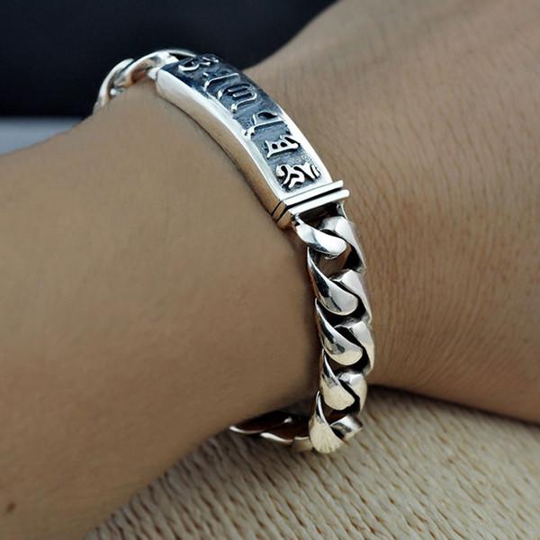 Reine Armbänder 18 21 Thai Silber Breite Cm Armband Bis Großhandel Reticular Gliederkette Klassische 925 Schmuck S925 Für Frauen Männer 10mm fIbvY76gy