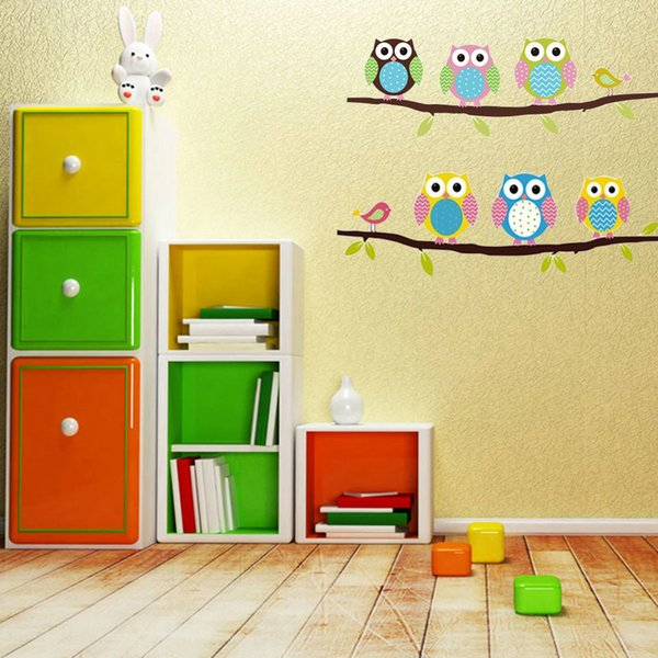stickers for kids Owl Stickers For Kids Rooms DIY Vinyl Removable Wall Sticker Baby Boy Girl Room Decor Nursery Animal