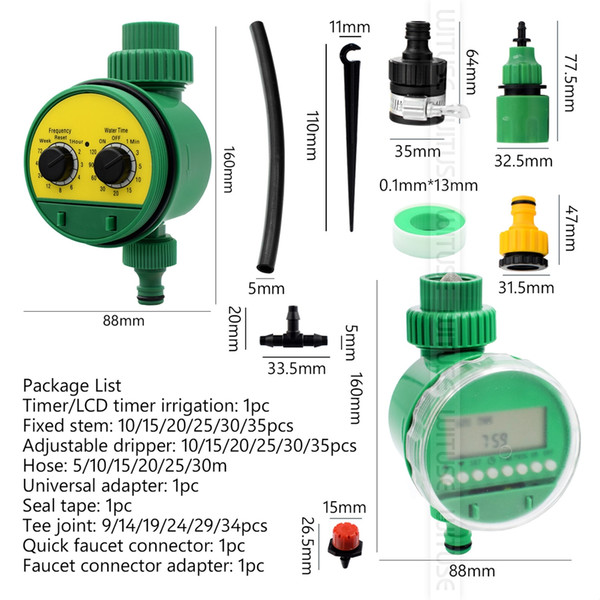 DIY Automatic Micro Drip Irrigation System Plant Watering Garden Hose Kits With Adjustable Dripper Smart Water Timer Controller
