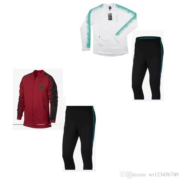 2018 2019 Top Thailand soccer tracksuit 18 19 PORTUGAL Training suit pants football training clothes sportswear mens Sweater