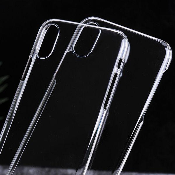 Estuche rígido transparente para iPhone X 8 7 6 6 s Plus 5S 5 SE Funda Slim MOQ 6pcs