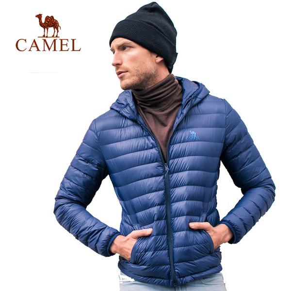 CAMEL Hiver Ultra Léger Vers Le Bas Veste Canard En Duvet Blanc À Capuche Vestes À Manches Longues Manteau Chaud Parka Solide Portable Outwear