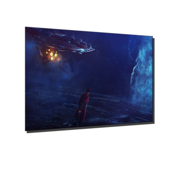 Dream,surreal Spaceship Warrior,Home Decor HD Printed Modern Art Painting on Canvas (Unframed/Framed)
