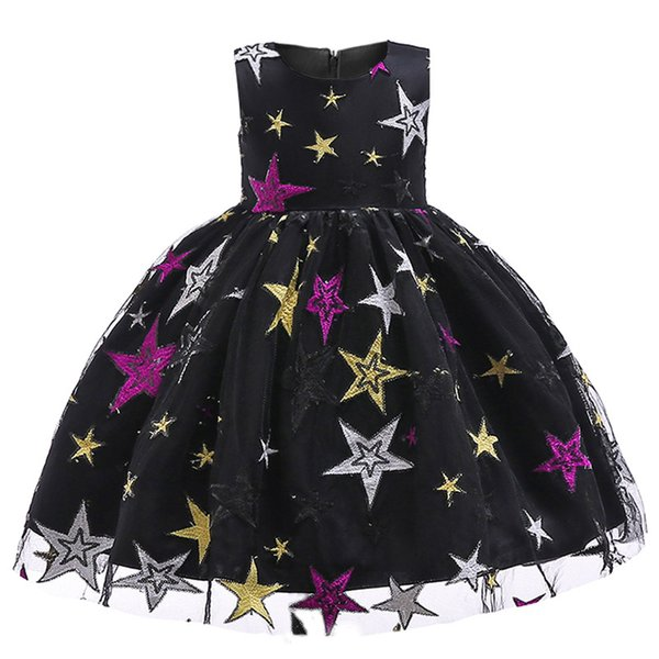 Cheap Sequin Flower Girl Dresses Toddle Pageant Dresses Ankle Length Organza For Garden Wedding Navy Blue little girls pageant dresses