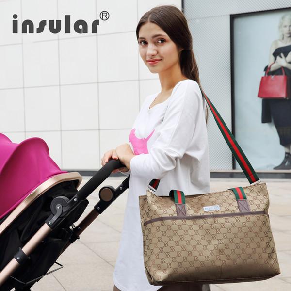 Mamá multifuncional bolsa de pañales de maternidad bolsa de enfermería bolsas de mensajero cochecito impermeable cochecito de diseño mochila de bebé