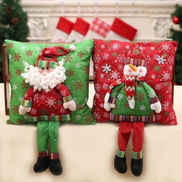 Merry Christmas 3d Cushion Santa Claus Cushion With Legs Christmas Decoration For Home Noel Natal New Year Bedroom Sofa Ornament D18110802 Large