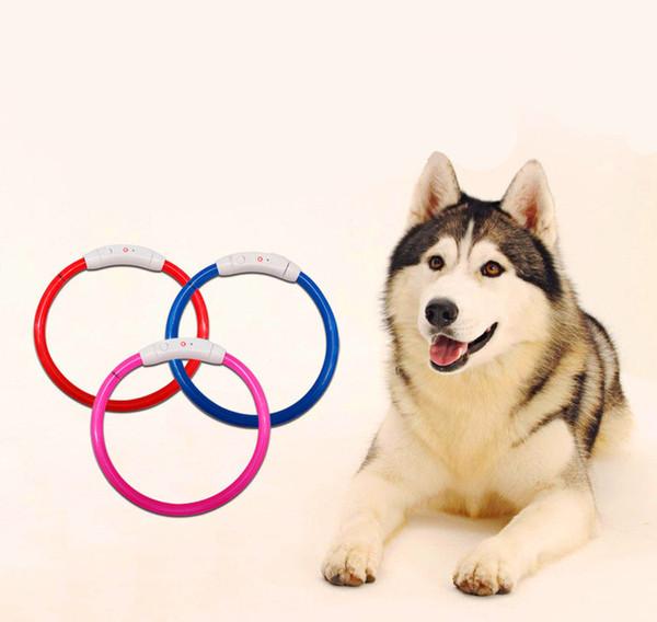 Nova chegada Pet USB Recarregável À Prova D 'Água LED Dog Collar Noite de Segurança Piscando Suprimentos Para Animais de Estimação Cão Acessórios Para Cão Pequeno LED Collar Grande