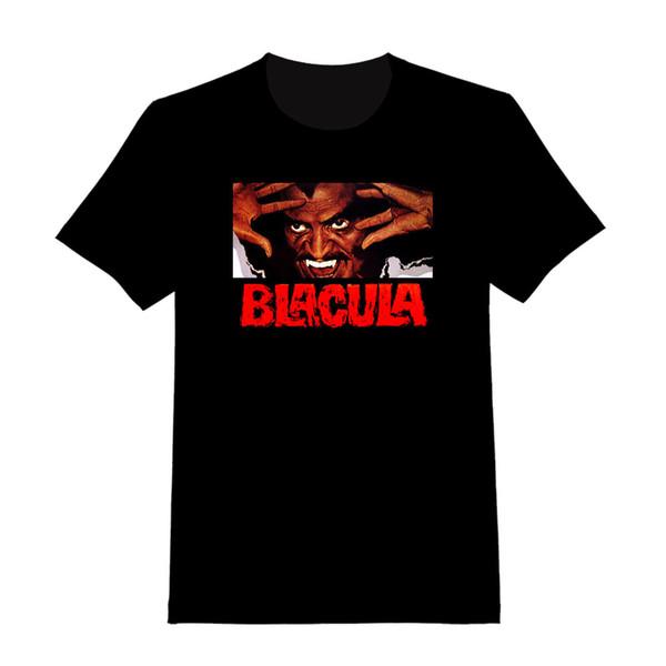Blacula # 1 - Camiseta personalizada (027) Diseños personalizados Camisetas personalizadas divertidas Su propia camisa 100% algodón de manga corta con cuello en O Tops