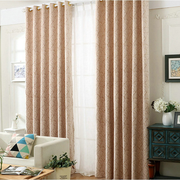 2019 Modern Chenille Blackout Curtains Double Sided Tree Stripes Pattern  Jacquard Curtain For LivingRoom Bedroom Window Simple Style From Bigmum, ...