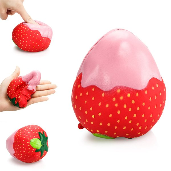 Strawberry Slow Rising Toy Squeeze Cream Bread Cake Kid Toy Gift Toys & Hobbies red