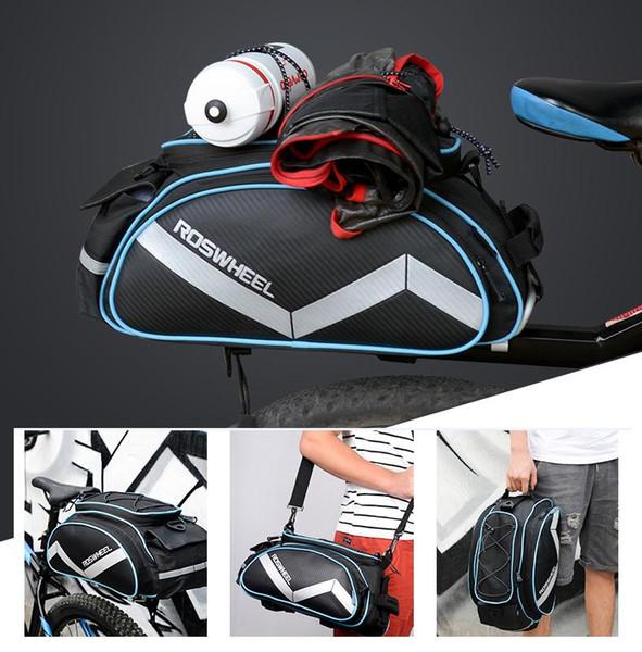 Multifunction 13L Bike Bicycle Tail Rear Seat Cycling Basket Rack Trunk Bag