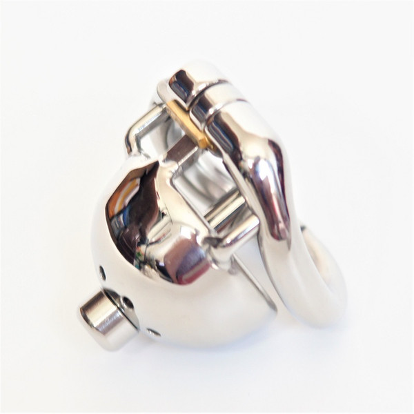 2018 Short Solitary Extreme Confinement Chastity Jaula Hombres Pene Restricción Super Small Size Male Chastity Device