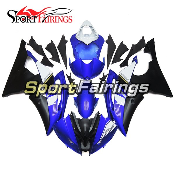 R6 Motorcycle Full Fairing Kit For Yamaha YZF600 R6 YZF-R6 2008 - 2016 09 10 11 12 13 Injection ABS Plastic Motorcycle Body Kit Blue Black