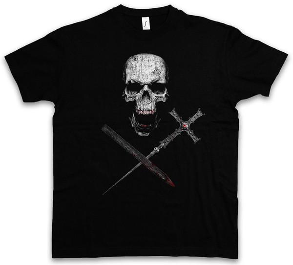 VAMPIRE SKULL T-SHIRT Vampir True Bite Teeth Jaws Blood Bat Horror Cross 2018 summer new men cotton Short sleeve T-shirt