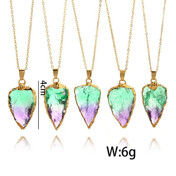 Cristal de Hematites Color Oro Triángulo Gota Damas Earrings Joyas