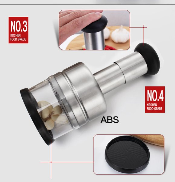 Food Grade 304 Stainless Steel Vegetable Choppers for Onion Chopper Garlic Chopper Slap Chop Food Dicer Mincer Kitchen Tool