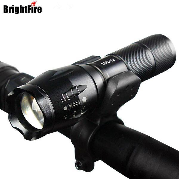 Professionelle wasserdichte cree xm-l t6 3800lm fahrrad licht taschenlampe zoomable led taschenlampe fahrrad licht mit taschenlampe halter