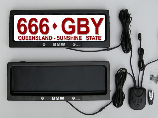 Australia car licence plate frame, personality license plate frame, removable cars Curtain Closed Plate 530*135*25mm