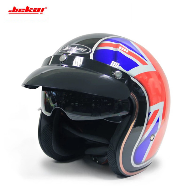 Jeikai 510 Half Face Vintage Motorcycle Helmet Jet Scooter Bike Helmet Retro Casque Motociclismo Men's Casco Moto