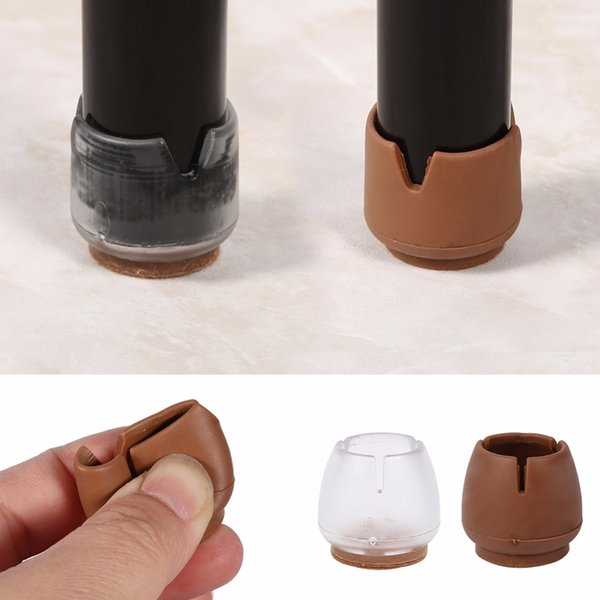16Pcs/Pack Chair Feet Protectors Legs For Sofas 25mm Round Furniture Feet PVC Pads For chair legs Cap Cover Protectors