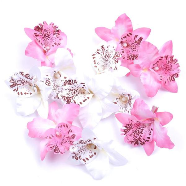 2Pcs Hot Women Wedding Bridal Charm Orchid Flower Leopard Hair Clip Bohemia Sea Beach Barrette CN