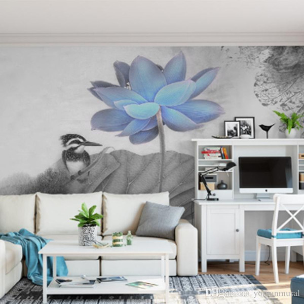 Personnalisé photo 3d fonds d'écran de lotus pour mur Home Decor Wall Mural Mur pour salon chambre glitter Wallpaper