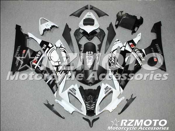 Injection mold New Fairings For Yamaha YZF-R6 YZF600 R6 08 15 R6 2008-2015 ABS Plastic Bodywork Motorcycle Fairing Kit black White d5