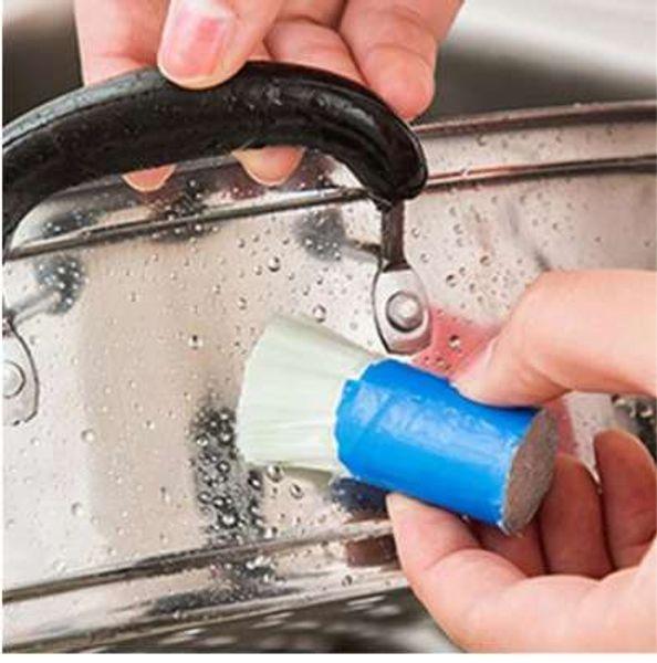 Spazzola per la pulizia Spazzola magica Spazzola per pulire la ruggine in metallo Spazzola da cucina Utile Utensili puliti Utensile da cucina Detergente per bucato