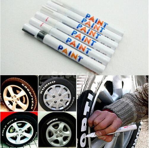 car styling Tire Permanent Paint Pen Tire Metal Marcatura Esterna Marcatore Inchiostro Adesivo per auto bastone creativo