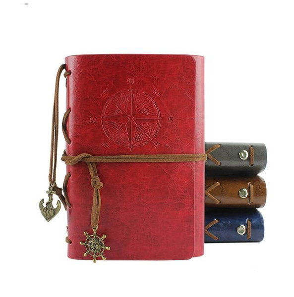 18x13cm big sizes Vintage Pirates dairy book PU Leather Notebook spiral Fashion Selection Kraft Paper Creative Business notepads