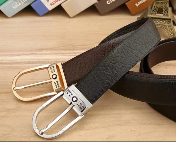 Cinturón de cuero de diseño de los hombres de lujo superior de la moda de los hombres de la correa de cuero entrega gratuita
