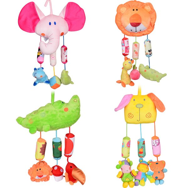 Home Infant Wind Chimes Plush Toys Hanging Newborn Crib Car Lathe Butterfly/Bird/Chicks/Owl Animal Baby Bed Rattles Bell Toy