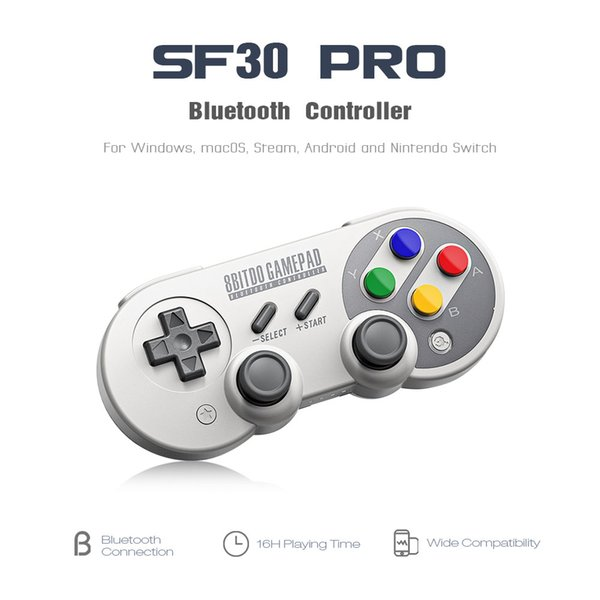 8Bitdo SF30 Pro/ SF30/ SN30 / SN30 Pro Gamepad Controller Joystick for Nintendo Switch Windows Android Rumble Vibration Motion