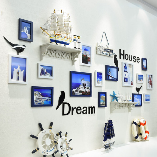 15 PCS Photo Frame Hanging per Picture Kitchen Wall Decor Modern Picture Frame per la famiglia Nuovo arrivo Cadre Photo Enfant Frames Decor Room