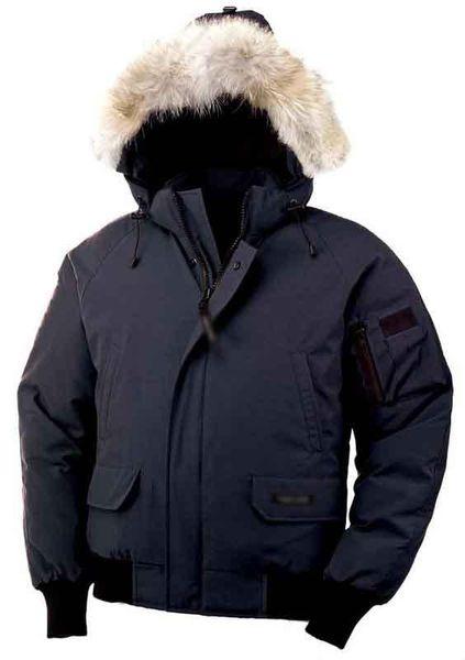 Winter Down Parkas Hoody Canada Bomber Wolf Fur Jackets Zippers Designer Jacket Men Chilliwackbomber Warm Coat Outdoor Parka Green Online