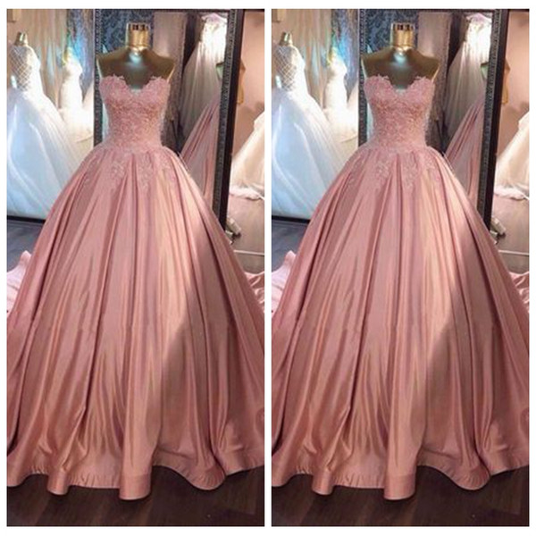 Sexy Sweetheart Ball Gown Prom Dresses Lace Top Formal Ladies Garden Party Wear Pleated Special Occasion Dubai Style Custom Design Your Own Prom Dress