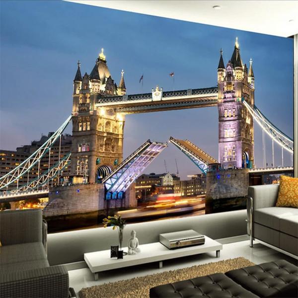 Acheter Personnalise Toute Taille Murale Papier Peint 3d Style Europeen Tower Bridge Chambre Salon Tv Fond Photo Papier Peint Papel De Parede De 33 6