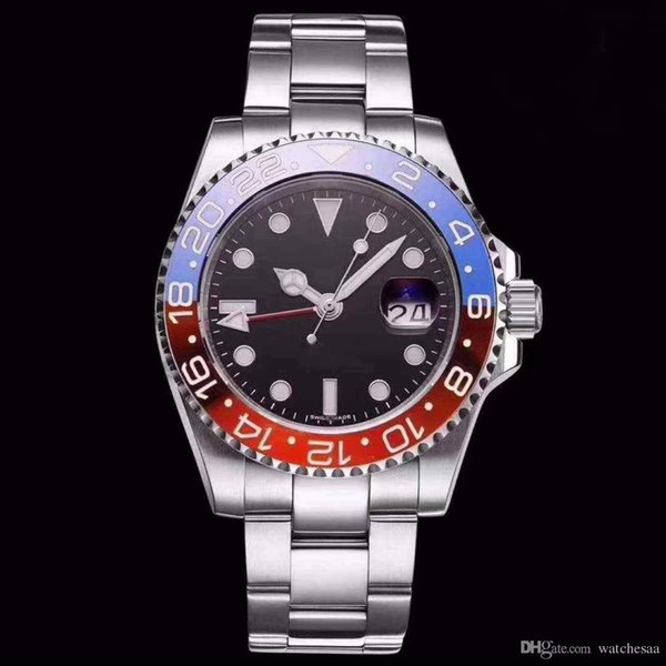 2017 Greenwich standard top 3A brand men's watch black bracelet stainless steel automatic movement sport mechanical watch