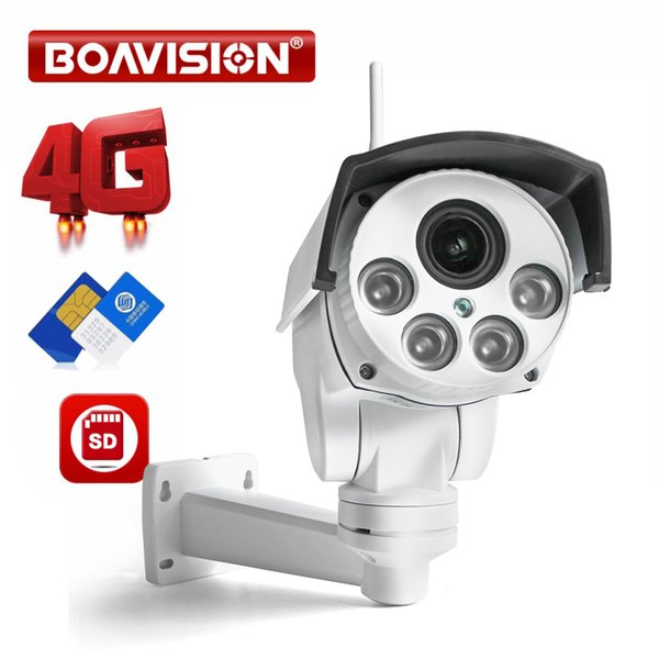 939bc9c1198 1080P 3G 4G PTZ IP Camera Outdoor Wifi SIM Card Camera P2P Support Micro SD  Card Storage Wi-Fi 5X Zoom Lens CCTV Cameras