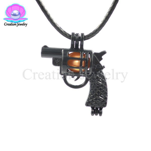 Bulk Black Gun Christmas Pearl Cages Women Kids Love Wish Oyster Pearl Pendants Gift Gemstone Lockets DIY Charms Without Akoya Pearls